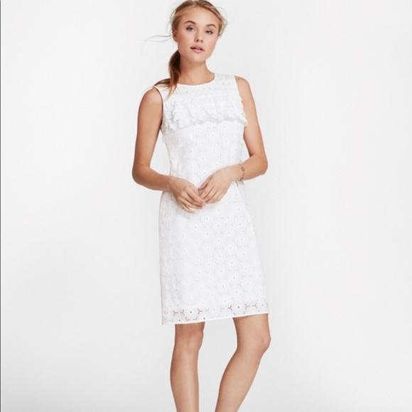 21055e848c Brooks Brothers Dresses | Cotton Eyelet Shift Dress Sz 8 | Poshmark